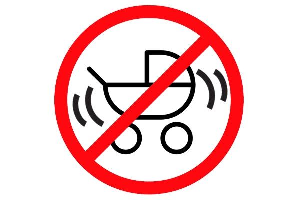 Zakaz bujania wózka