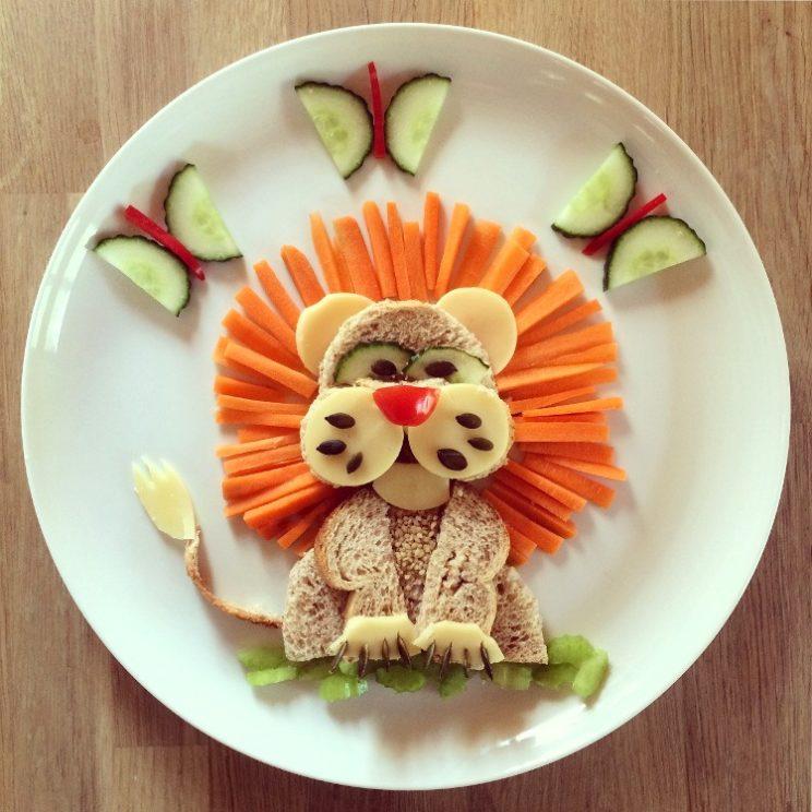 Atrakcyjny posiłek dla dziecka