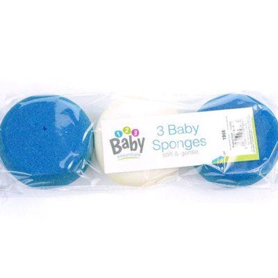 Gąbka dla niemowlaka niebieska