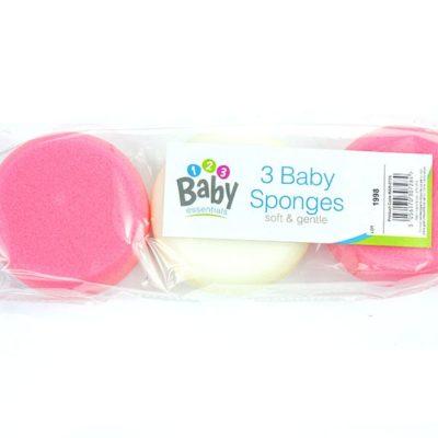 Gąbka dla niemowlaka różowa