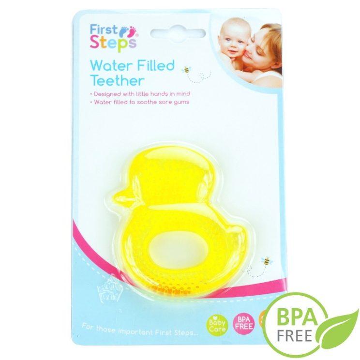 Gryzaczek niemowlęcy wypełniony wodą