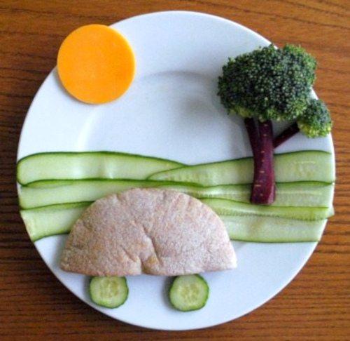 Atrakycjne danie dla dziecka na talerzu