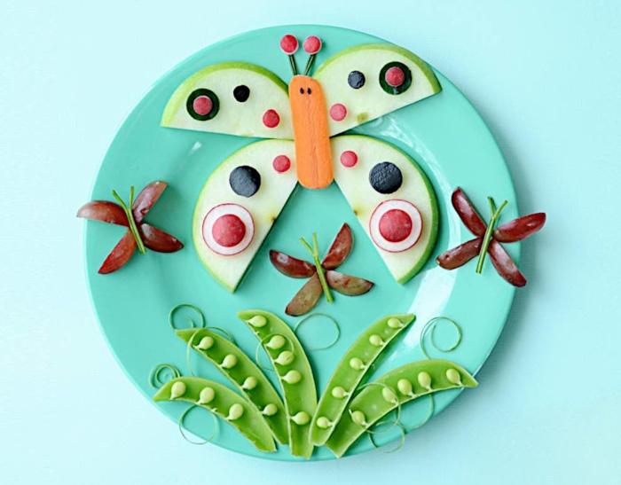 Motylek do jedzenia dla dzieci
