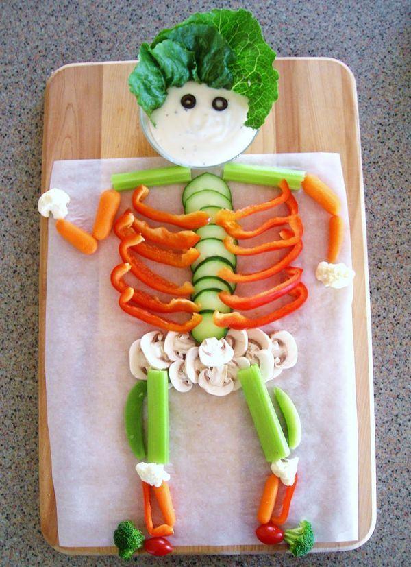 Szkieletor wykonany z warzyw