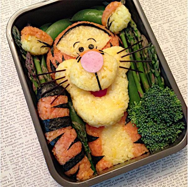 Tygrysek z Kubusia Puchatka zrobiony z warzyw